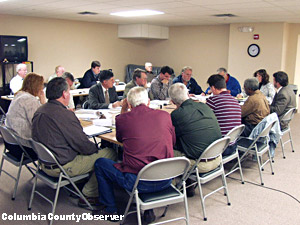 Columbia County Utility Commitee in 2009.