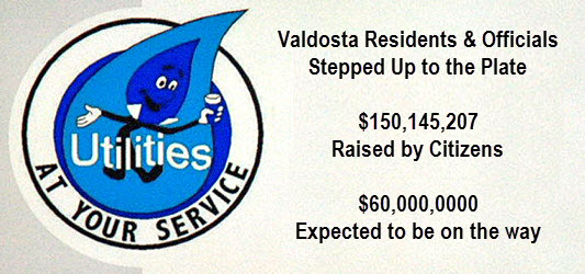 Graphic showing how much SPOLST public funding, $150,145,207 was raised by Valdosta