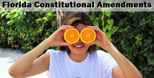 girl with orange binoculars: text is floirda minimum wage constitutional amendment poised to pass