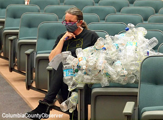 20210119 merrillee in In: Columbia County's Legislative Delegation Gets a Visual: Bottled Water Is Also About the Bottles | Our Santa Fe River, Inc. (OSFR) | Protecting the Santa Fe River in North Florida