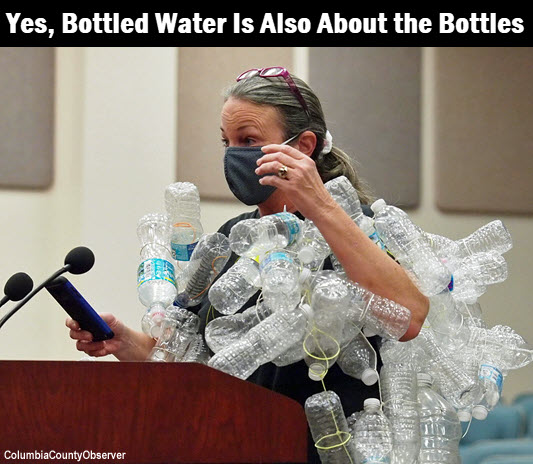 In: Columbia County's Legislative Delegation Gets a Visual: Bottled Water Is Also About the Bottles | Our Santa Fe River, Inc. (OSFR) | Protecting the Santa Fe River in North Florida