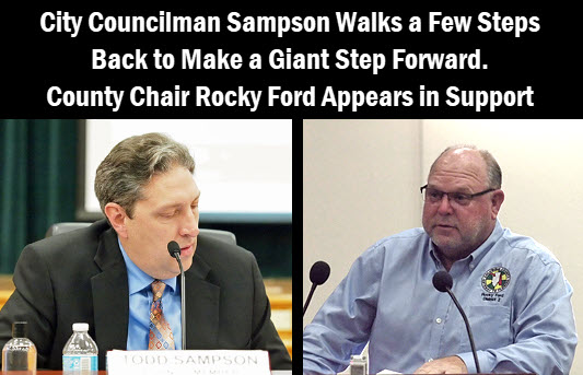 City Councilman Todd Sampson and Commissioner Rocky Ford